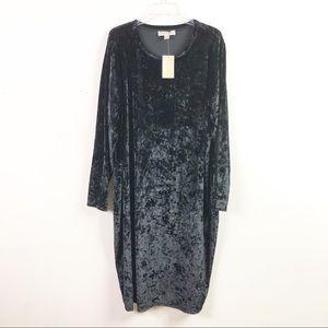 Michael Kors Womens 3X Black Velvet Dress B5-02
